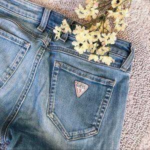 Guess Vintage Look Skinny Jeans Zipper Ankle